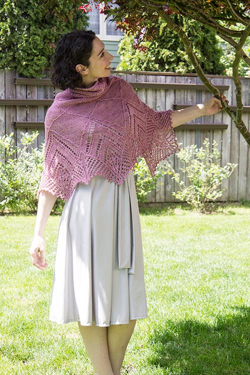 shawl in the garden